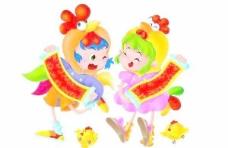 春节素材童男童女PSD源文件004