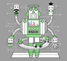 韩国机器人卡通插画10