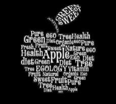 字母蘋果矢量素材