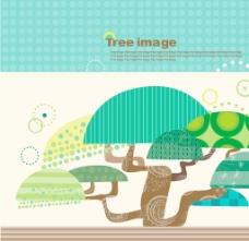 韩国卡通树时尚元素矢量素材19