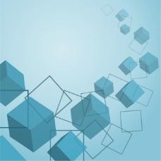 立方体背景素材矢量图