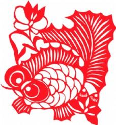 民间艺术剪纸金鱼AI矢量图15