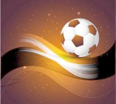 潮流动感足球背景矢量素材1