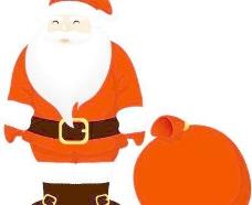 圣诞挂饰之圣诞老人矢量图38