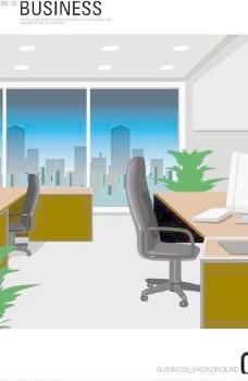 韩国办公室场景矢量图06