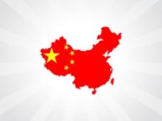 随着中国国旗的背景图