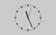 圆形flash当前时间钟表走时
