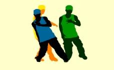 街舞少年跳舞flash矢量素材