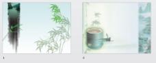 青青绿竹中国风味PPT模板
