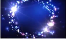 蓝色渐变炫光星光背景PSD分层模板