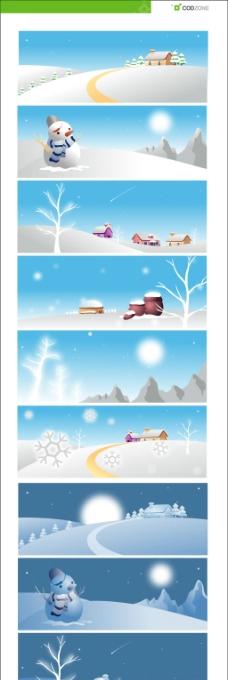 冬天里的风景
