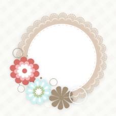 五颜六色的花的装饰相框背景