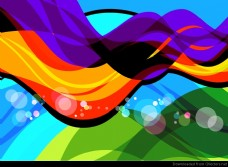 摘要多彩波艺术节。