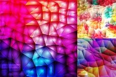 绚丽立体褶皱折纸背景矢量素材