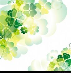 摘要绿色花卉设计。
