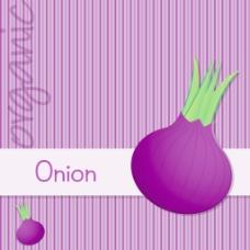 明亮的有机紫洋葱卡矢量格式