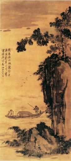 太行山风景画图片_山水风景画