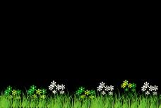 flash绿色草地和小花朵