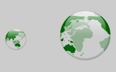 随鼠标旋转地球flash动画