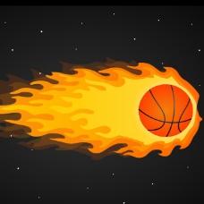 篮球火动画flash素材