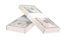 元钱孤立在白色背景