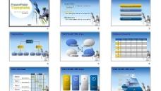 PPT商务背景模板图片