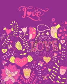 爱水彩画水彩字母矢量字体