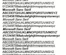 Microsoft Sans Serif 英文字体下载