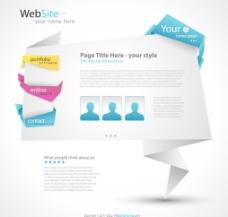 折纸网站设计模板图片