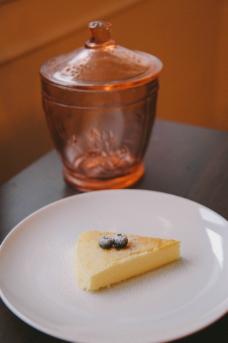 蓝莓芝士蛋糕图片