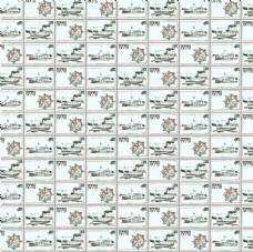 航海风格邮票游轮