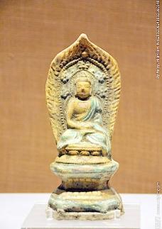 黄绿釉陶释迦摩尼佛像图片
