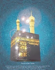 伊斯兰教花纹背景图片