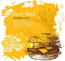 漢堡快餐圖片