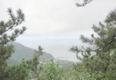 崂山上的山海景观图片
