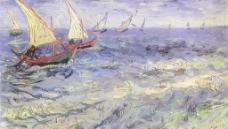 梵高 海景帆船图片