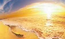 高清大海涨潮美景图片