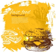汉堡快餐图片