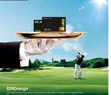 高尔夫球背景图片