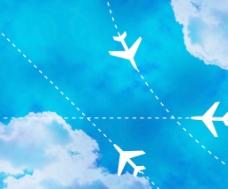 飞行路径的天空背景