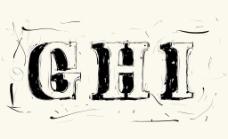 手绘涂鸦矢量字体的垃圾
