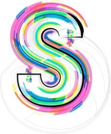 插图插画矢量字体的字母S
