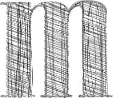 手绘字体插图