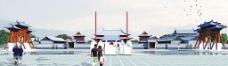 梵净山佛教文化苑山门设计效果图图片