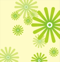 移门绿花纹背景图片