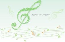 绿色音符图片