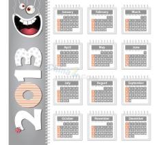2013日历设计矢量素材
