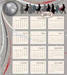 商务日历设计模板矢量素材