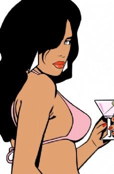 GTA_Vice_City_Woman logo设计欣赏 GTA_Vice_City_Woman电脑公司LOGO下载标志设计欣赏