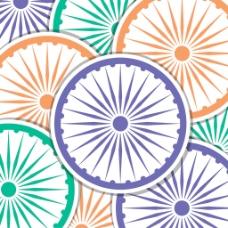 印度轮标签卡/背景矢量格式